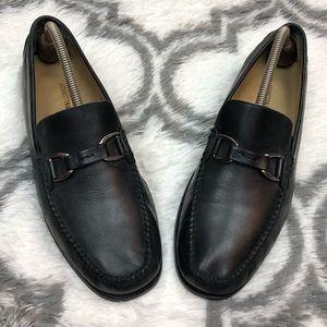 Johnston & Murphy Black Horse Bit Loafers 9.5 M